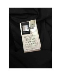 Top en Coton Noir Fendi en coloris Black