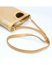 Louis Vuitton Yellow Lackleder Handtaschen