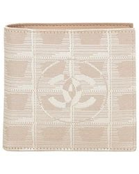 Chanel - Brown Pre-owned Cloth Wallet - Lyst