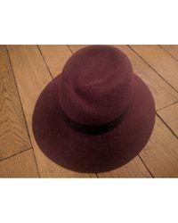 Chapeaux en Laine Bordeaux Maison Michel en coloris Multicolor