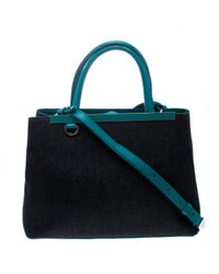 Fendi Blue 2jours Leder Handtaschen