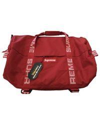 Supreme Red Bag for men