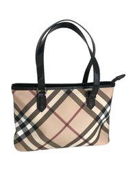 Burberry Natural Leinen Handtaschen