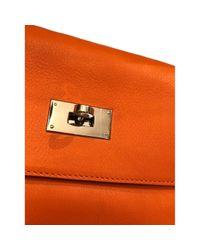 Bolso Kelly 40 de Cuero Hermès de color Orange
