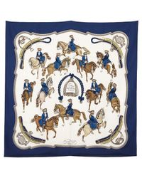 Hermès Blue Pre-owned Silk Handkerchief