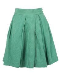 Falda en algodón verde Dries Van Noten de color Green