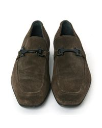 Ferragamo Brown Suede Flats for men