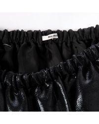 Miu Miu \n Black Silk Skirt