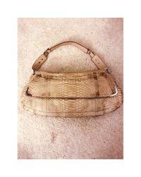 Bolsa de mano en pitón beige Anya Hindmarch de color Natural