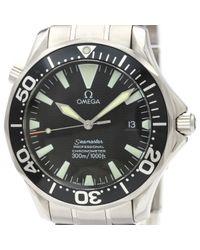 Reloj en acero negro Seamaster Omega de hombre de color Black