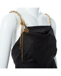 Robe en Soie Noir Louis Vuitton en coloris Black