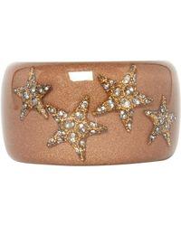 Roberto Cavalli \n Brown Plastic Bracelet