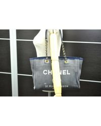 Chanel Gray Deauville Shopper