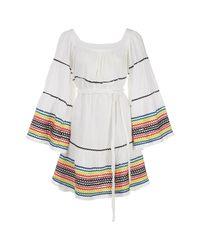Lisa Marie Fernandez White Leinen Mini Kleid