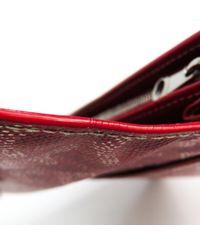 Portafoglio in tela bordeaux di Goyard in Red
