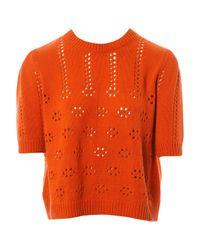 Maglione. Gilet in cachemire arancione \N di Miu Miu in Orange