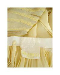 Nina Ricci Yellow Seide Maxi Kleid