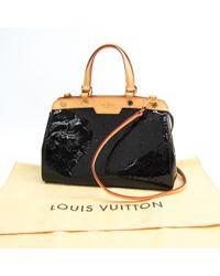 Borsa a mano in vernice bordeaux Bréa di Louis Vuitton in Black