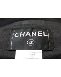 Chaqueta en lana negro Chanel de color Black