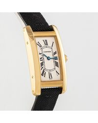 Cartier Multicolor Tank Américaine Gelbgold Uhren