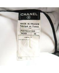 Camisa en seda negro Chanel de color Black