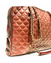 Borsa a mano in pelle bordeaux \N di Chanel in Multicolor