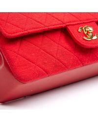 Chanel Red Timeless/classique Leinen Handtaschen
