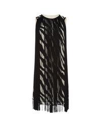 Robe mi-longue Michael Kors en coloris Black