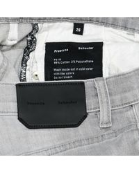 Jeans en Coton Gris Proenza Schouler en coloris Gray