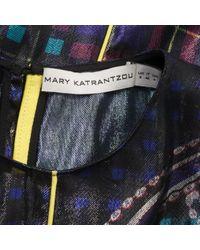 Robe \N en Soie Multicolore Mary Katrantzou en coloris Blue