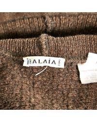 Alaïa Brown Pre-owned Mid-length Dress
