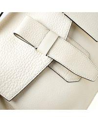 Borsa a mano in pelle bianco Charlie di Lancel in White