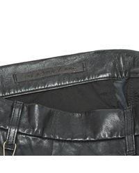 Rag & Bone Black Leder Kurze Hosen