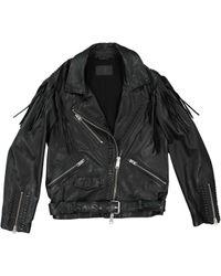 AllSaints Black Leather Jacket