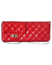 Chanel Red Patent Leather Clutch Bag