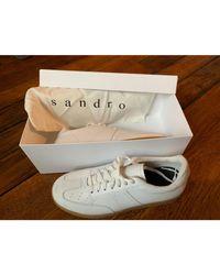 Baskets cuir blanc Sandro pour homme en coloris White
