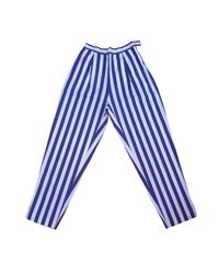 Pantalon droit coton multicolore Sonia Rykiel en coloris Blue