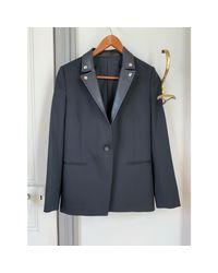 Blazer, veste tailleur laine noir The Kooples en coloris Black