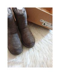 Bottes de neige laine gris Ugg en coloris Gray
