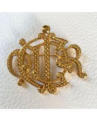 Broche plaqué or doré Dior en coloris Metallic