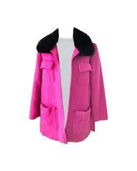 Manteau laine rose Christian Lacroix en coloris Pink