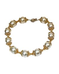 Collier métal doré Chanel en coloris Metallic