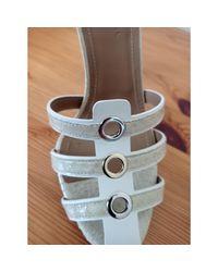 Sandales à talons python blanc Sonia Rykiel en coloris White