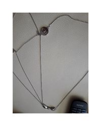 Sautoir métal argent Dior en coloris Metallic