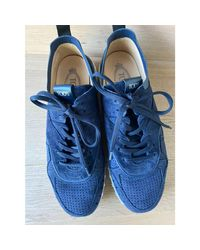 Baskets daim bleu Tod's en coloris Blue