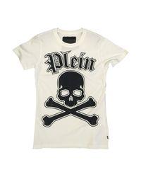 Tee-shirt coton blanc Philipp Plein pour homme en coloris White