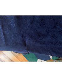 Châle soie bleu Louis Vuitton en coloris Blue