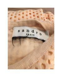 Robe mi-longue polyester rose Sandro en coloris Pink