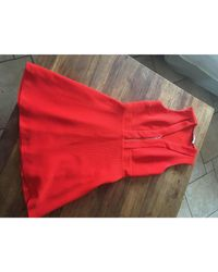 Robe courte viscose orange Sandro