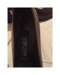Escarpins cuir marron Sergio Rossi en coloris Brown